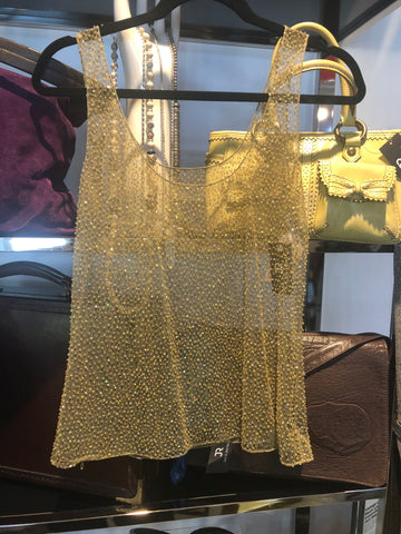 Randolph Duke Tank Tulle Sequin Top