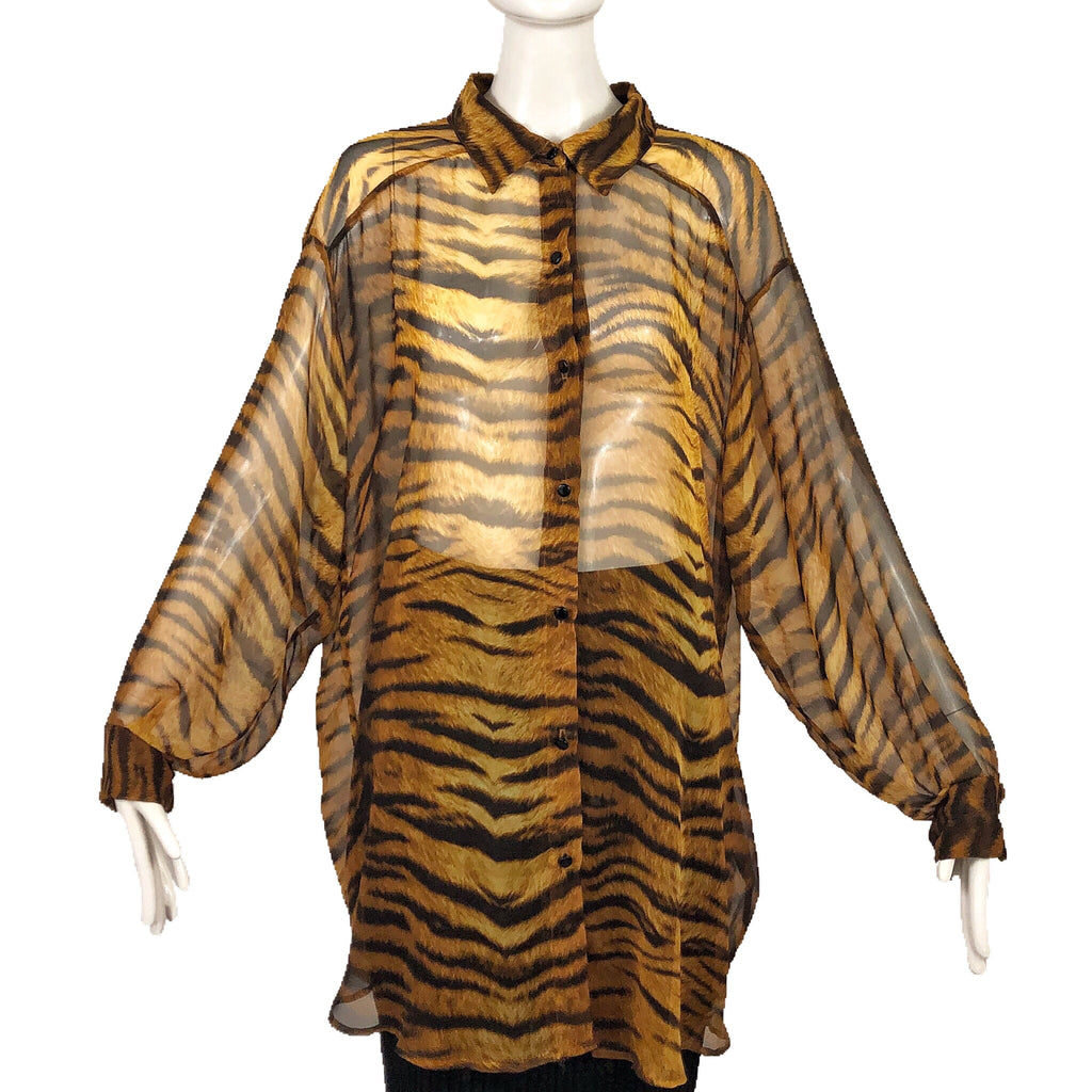 80's Bill Blass Animal Print Blouse