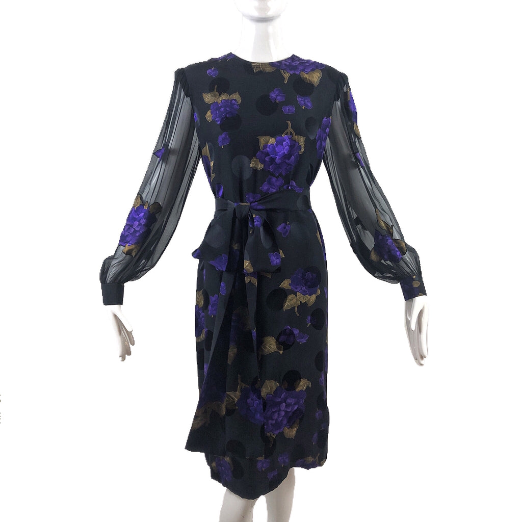 Adele Simpson Black Floral Dress
