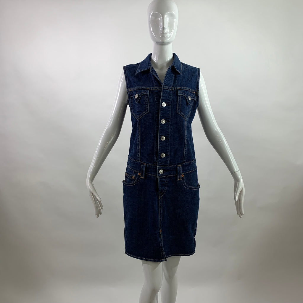 Levi Type I Denim Sleeveless Dress