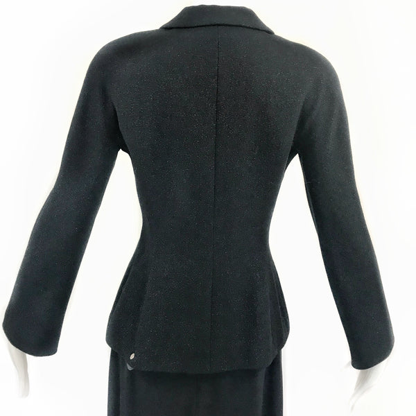 90's Badgley Mischka Black Glitter Jacket