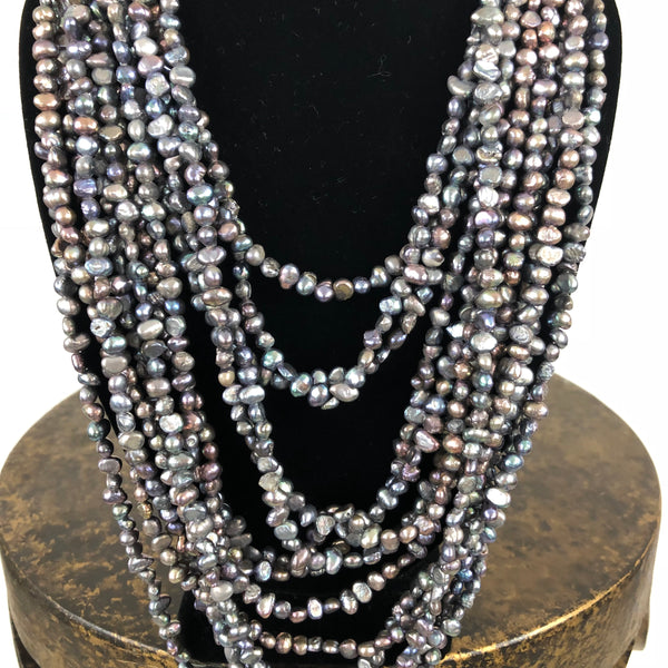 13 Strand Fresh Water Pearl Necklace
