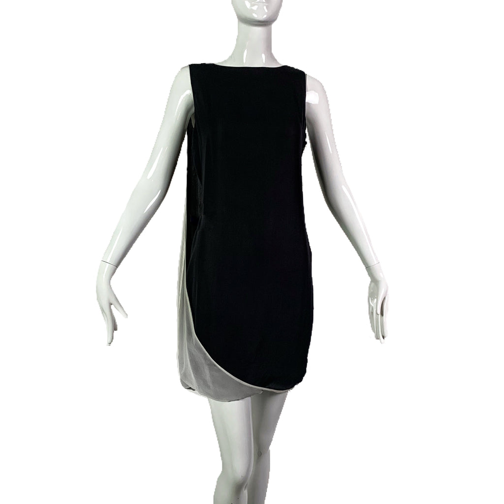 Halston Heritage Two-Tone Silk Dress