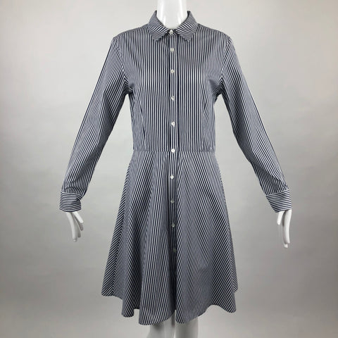 Serena & Lily Blue Striped Shirt Dress