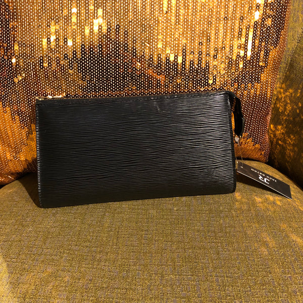 LV Black Epi Leather Petit Pouch