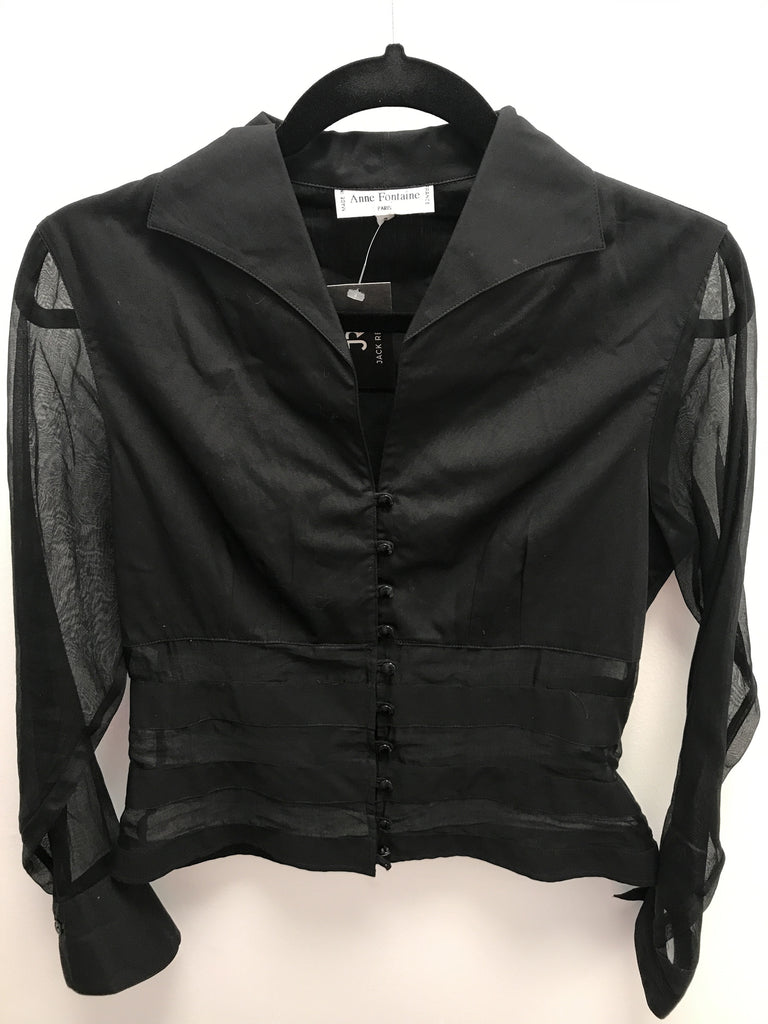 Anne Fontaine Black Blouse