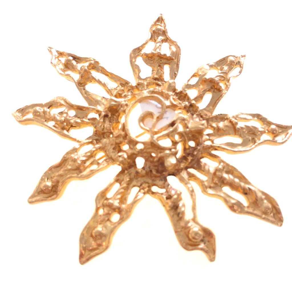 Christian Lacroix Sunburst Brooch