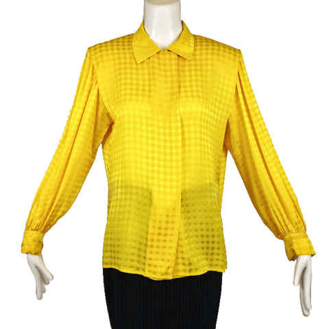 Gloria Sachs N.Y. Yellow Blouse