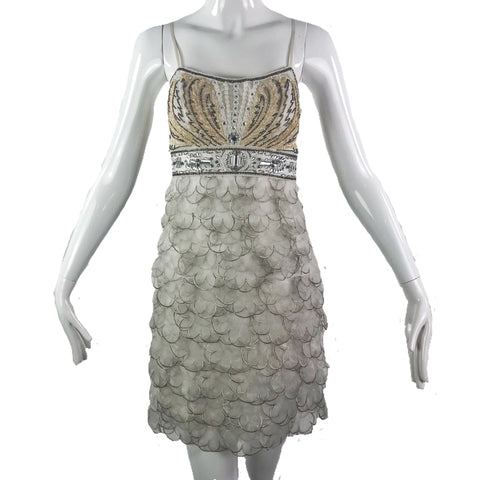 Sue Wong Nocturne Strap Beaded Dress