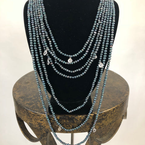 6 Strand Fresh Water Pearl Necklace