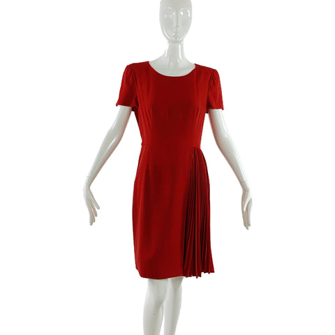 Prada Red Pleated Dress