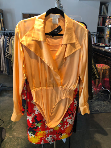 Escada Beige Silk Blouse