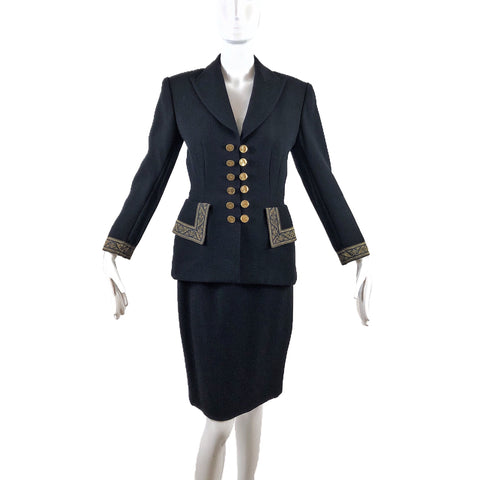 Lolita Lempika Paris Skirt Suit Black+Gold
