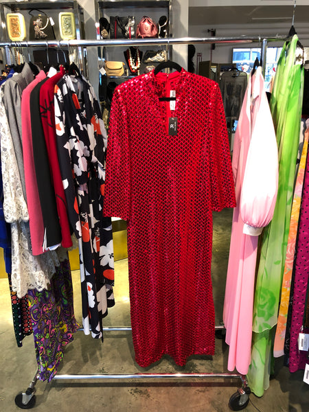 Lillie Rubin Red Sequin for Harold Levine