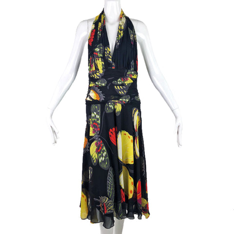 Tadashi 80s Neiman Marcus Silk Butterfly Dress