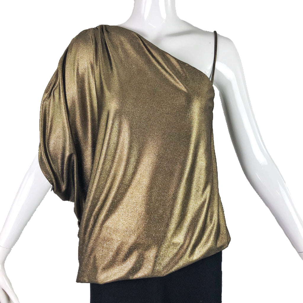 Alice + Olivia Gold Metallic Top