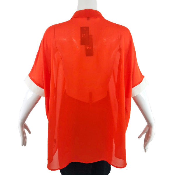 Trend Tahari Orange Blouse