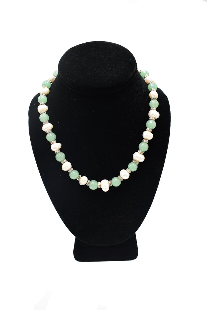 Pearl + Jade Necklace