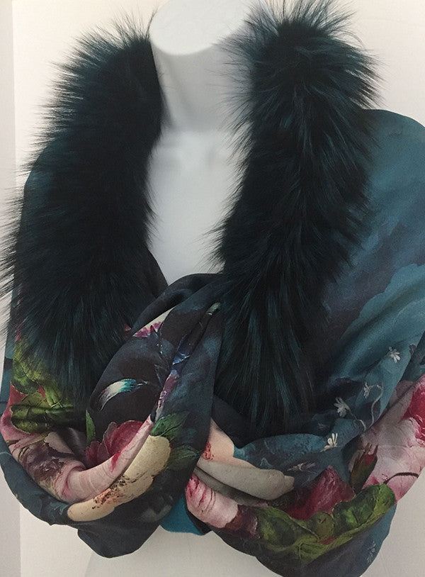 Silk/Cashmere/Fox Wrap