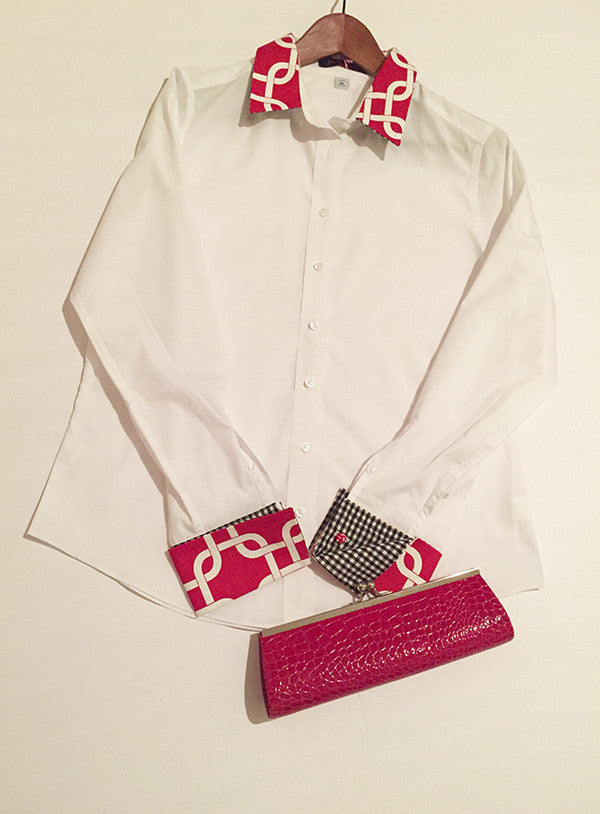 100% Cotton Custom White Shirt with detailed French cuffs and collar