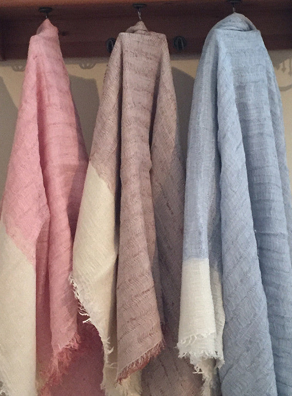 Scarves:  Oversized Dazzling Linen/Poly/Wool Blend