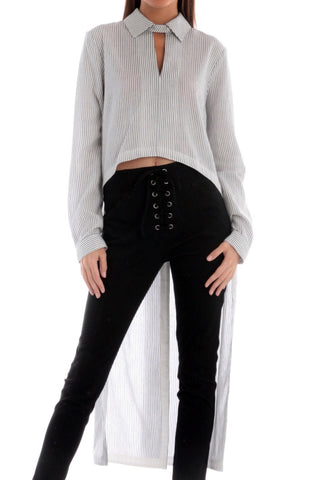 Open Front Cropped Cardigan