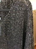 Plus Size -Silver Sparkling Pullover Top