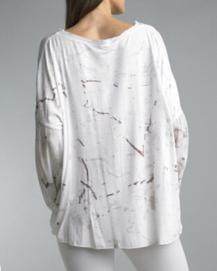 Silk Blend Oversized Tee (only 1 left)