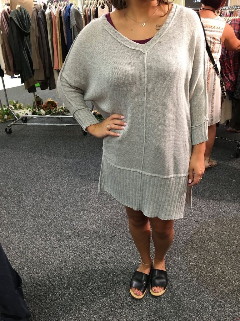 Oversized Light Grey Sweater