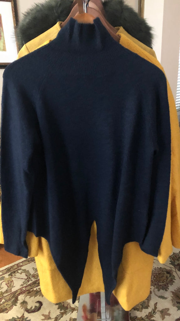 Navy Mock Turtle Neck