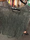 Silver Sparkling Pullover Sweater
