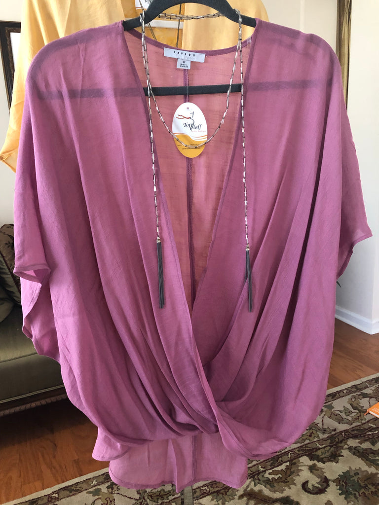Mauve High/Low Summer Top