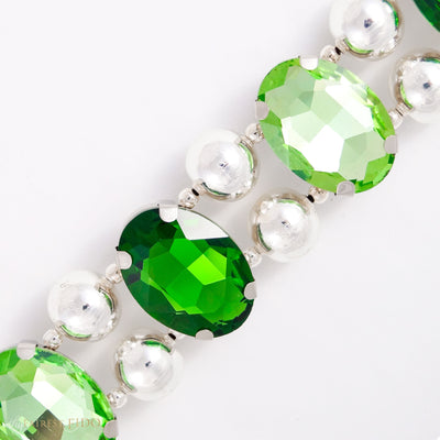 Eternal_Gems_Two_row_woven_emerald_peridot_glass_crystals_with_signature_silver_beads_size_3_Thy_Fairest_Fido