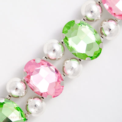 Eternal_Gems_Two_row_woven_pink_peridot_glass_crystals_with_signature_silver_beads_size_3_Thy_Fairest_Fido