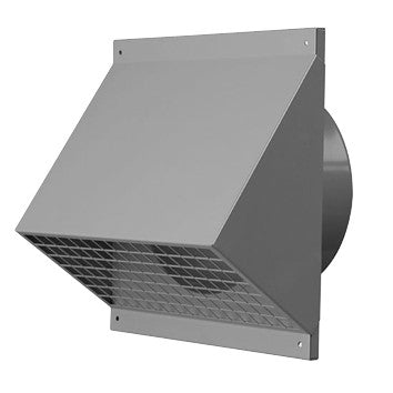 Wall grill 150mm metal, white