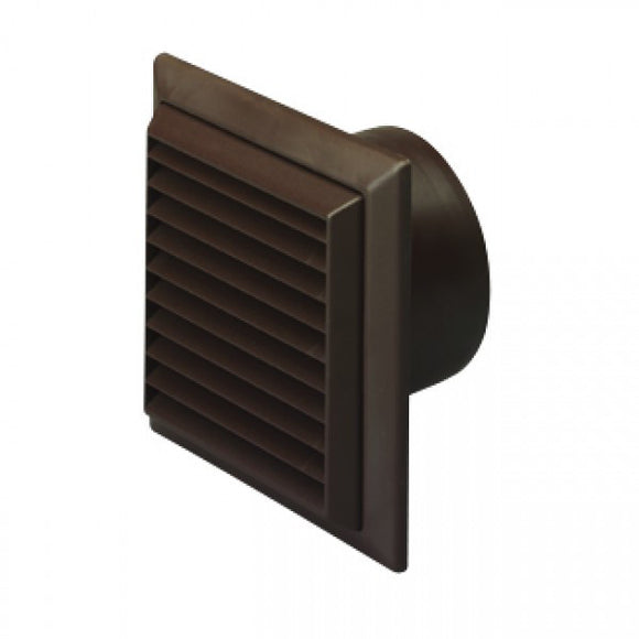 Exterior wall grille 125mm, brown