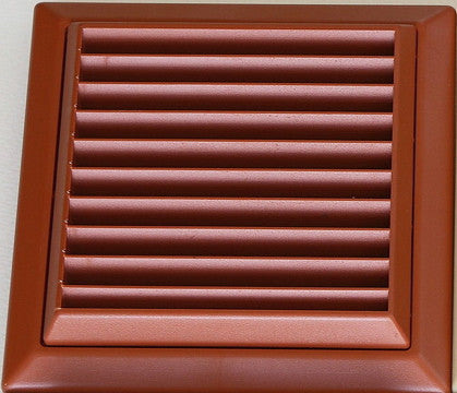 Exterior wall grille 150mm, terracotta