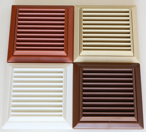 Exterior wall grille 150mm, cream