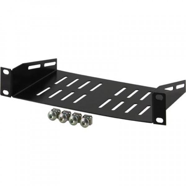 1U vented shelf for 10 Inch SOHO Rack