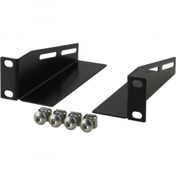 L-brackets for 10 inch SOHO Rack , 136 mm, 2-Pack, Black (RAIL-310) - Rack Sellers