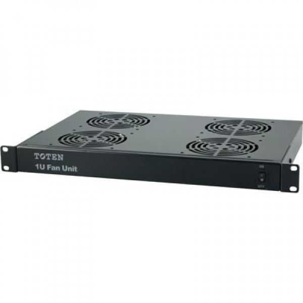 1U, 19 inch rackmount fan element with 4 fans for IT Network Server Data Cabinet Enclosure Racks