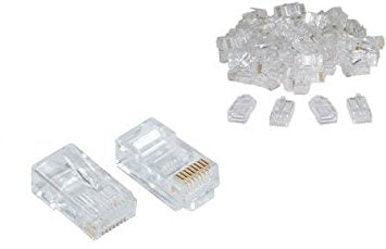 RJ45 UTP Connector / Plug - Bag of 100 (CAT5E) - Rack Sellers