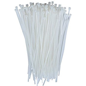 Cable Ties 2.5mm wide x 160mm long (White) - Pack of 100