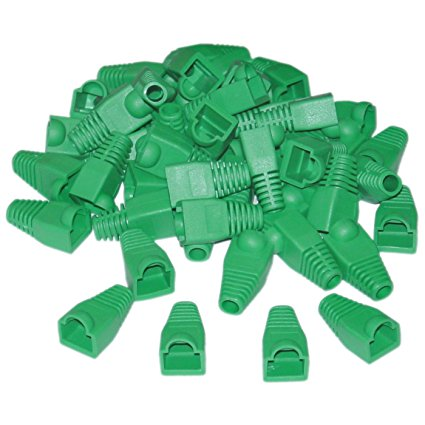 RJ45 BOOTS - Green - Bag of 100 - Rack Sellers