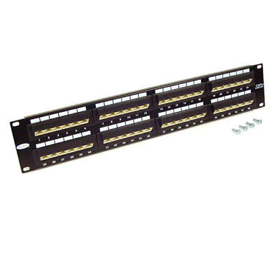 1.5U CAT5e - 48 Port Patch Panel (Dual Use) - Vertical Punch