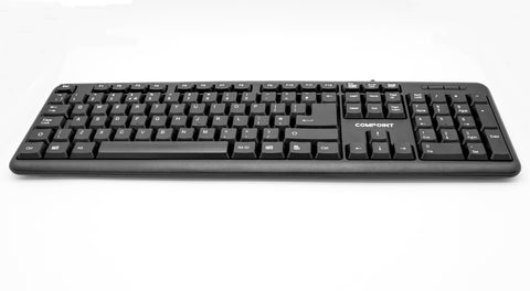 USB WIRED QWERTY KEYBOARD UK LAYOUT FOR PC DESKTOP COMPUTER LAPTOP