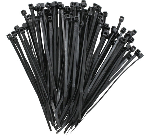 Cable Ties 2.5mm wide x 160mm long (BLACK) - Pack of 100
