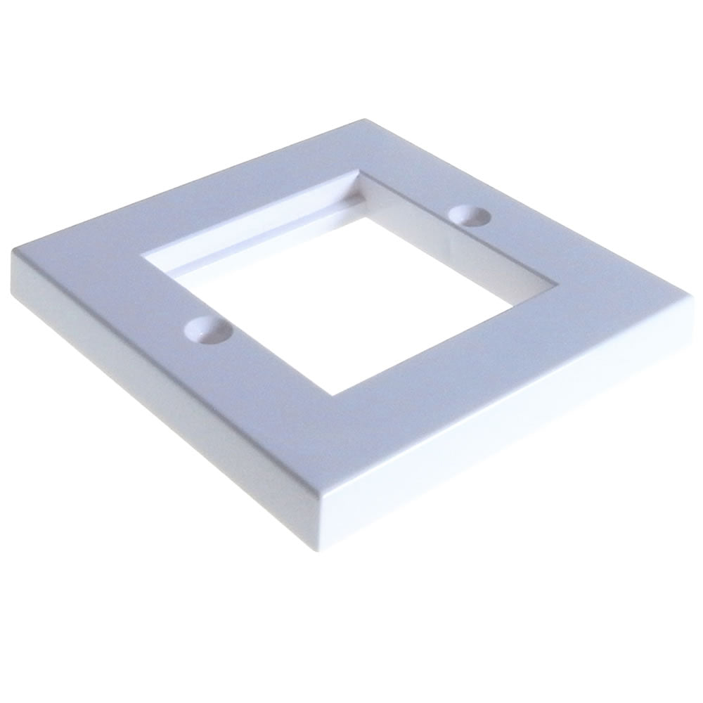 86mm x 86mm single gang face plate - Flat – White (2 Slot)
