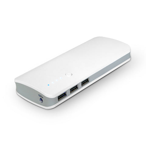 USB Power Bank 6000mAh - White,dual ports 1A/2A - PBK-600B-W