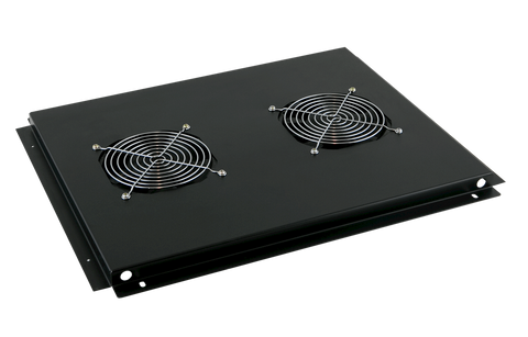 Roof mount cooling unit with 2 fans for 600mm deep rack cabinets